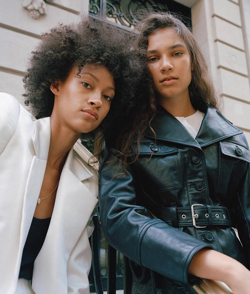 Madi Landram and Nikita M'bouroukounda by Daragh Soden for WSJ. Magazine October 2019