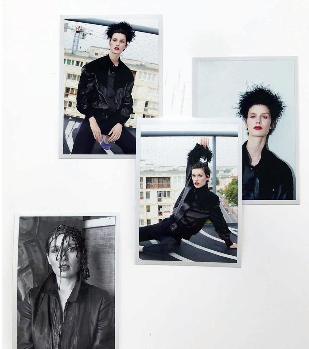 Marte Mei van Haaster covers Vogue Poland October 2019 by Katja Rahlwes