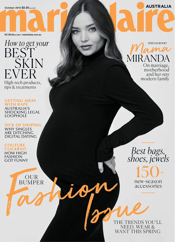 Miranda Kerr covers Marie Claire Australia October 2019 by Nino Munoz