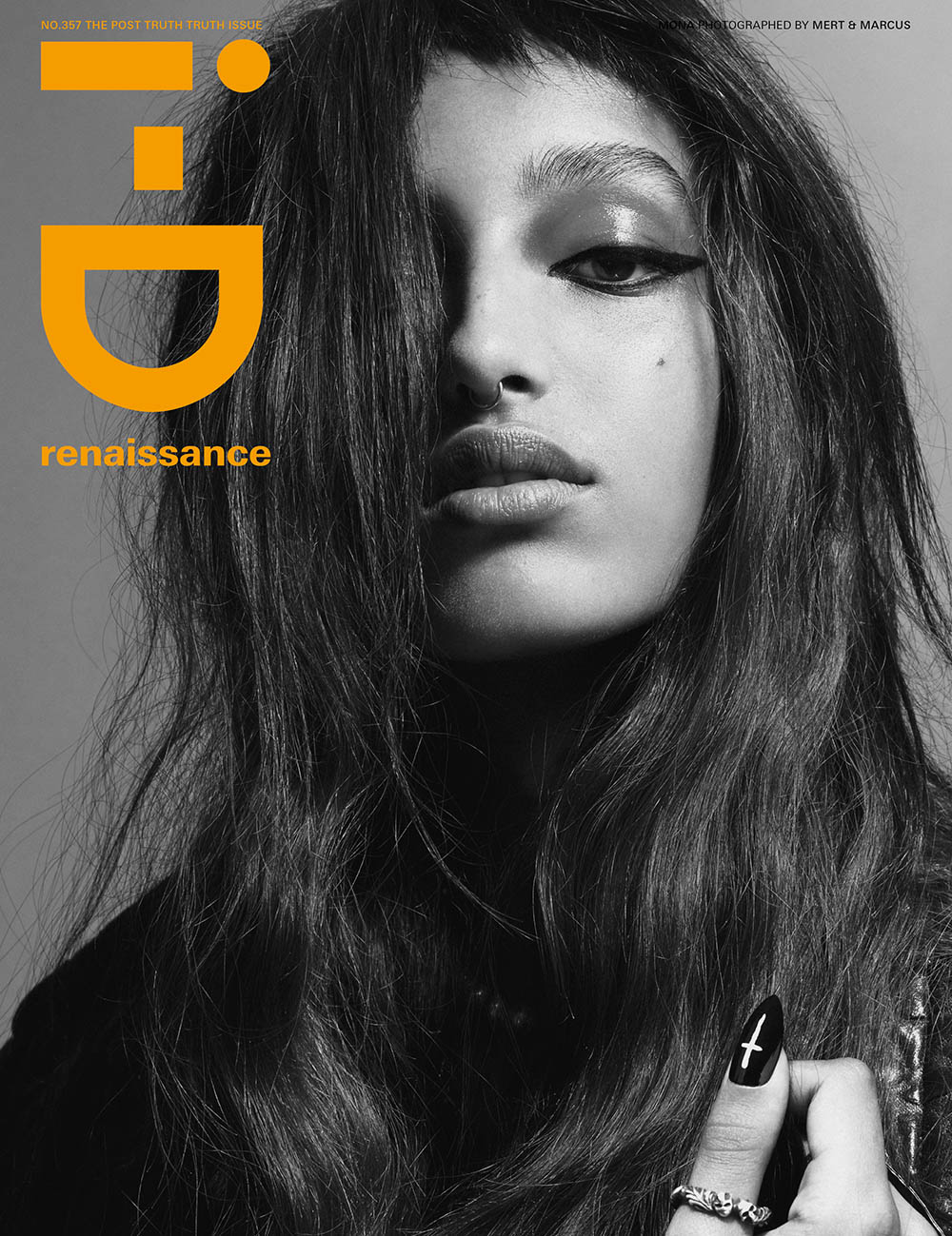 Mona Tougaard covers i-D Magazine Fall 2019 by Mert & Marcus