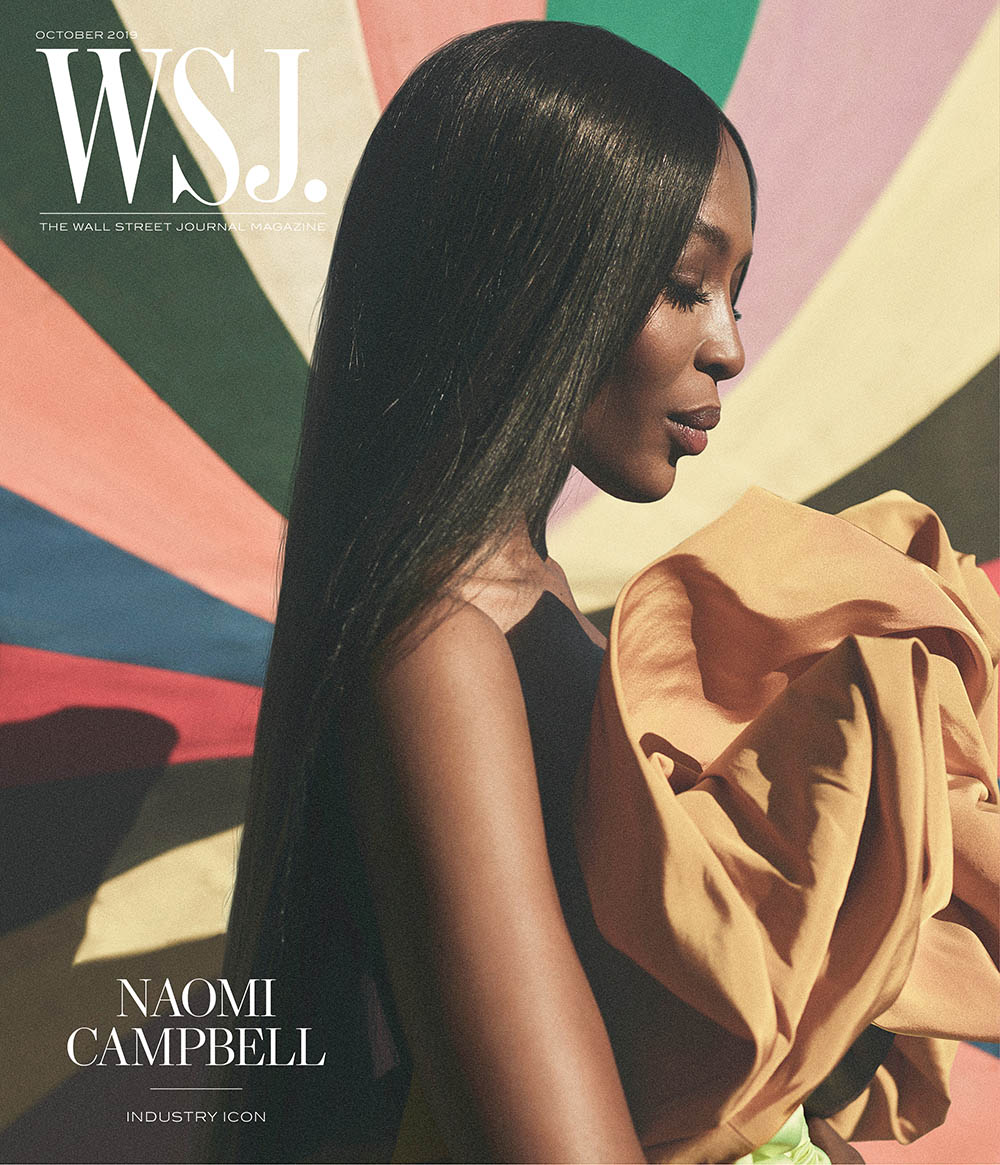 Naomi Campbell covers WSJ. Magazine October 2019 by Annemarieke van Drimmelen
