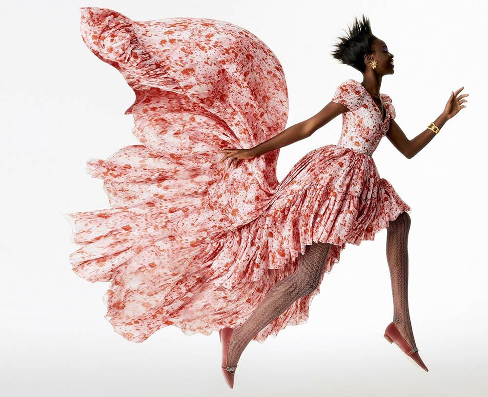 Olamide Ogundele by Daniel Clavero for Elle UK October 2019