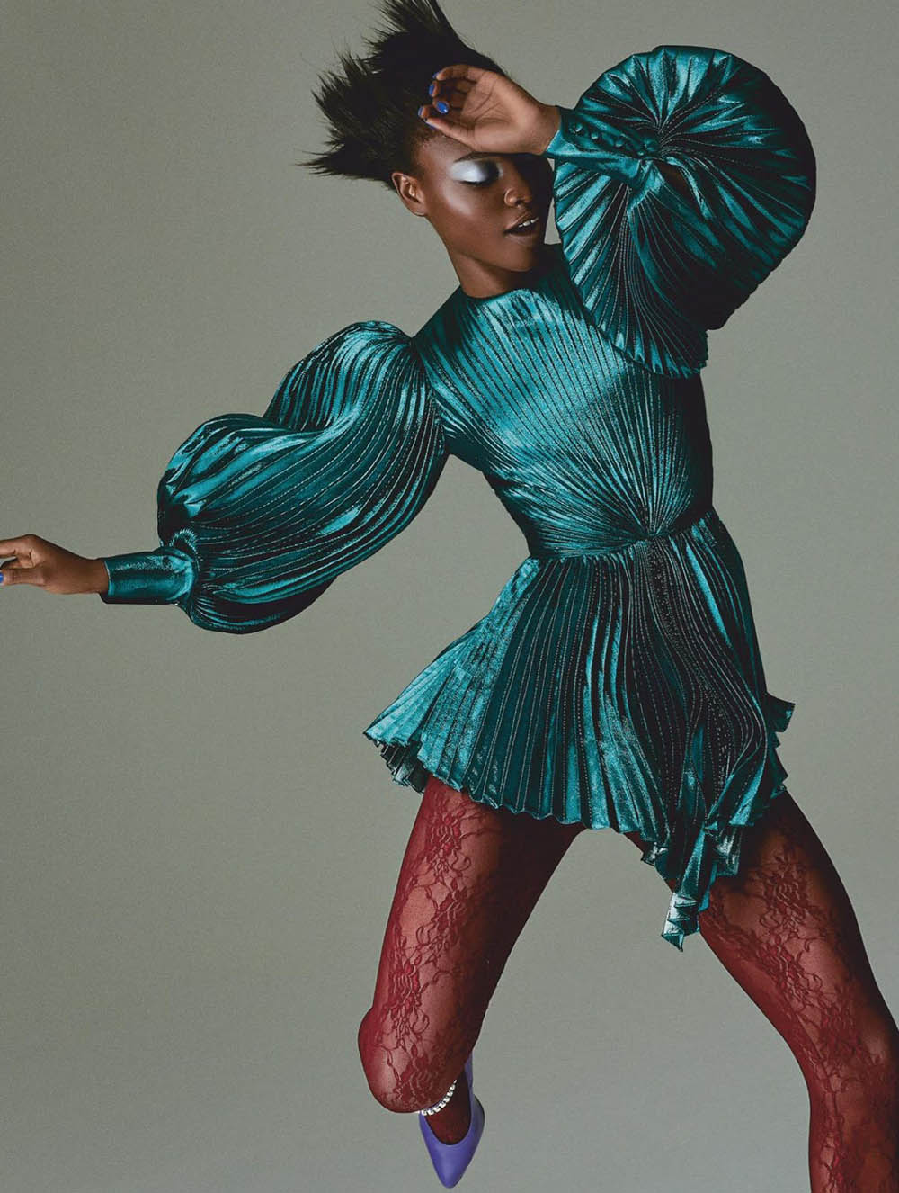 Olamide Ogundele by Daniel Clavero for Elle UK October 2019