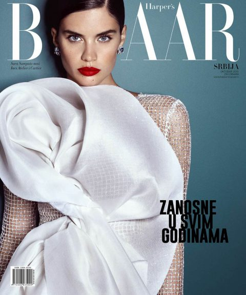 Sara Sampaio covers Harper's Bazaar Serbia October 2019 by Luis Monteiro