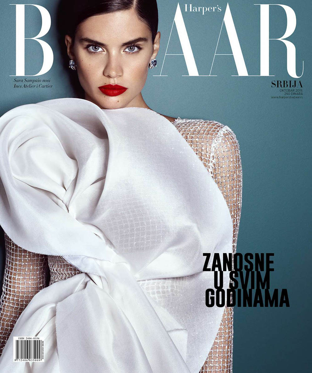 Sara Sampaio covers Harper's Bazaar Serbia October 2019 by Luis Monteiro