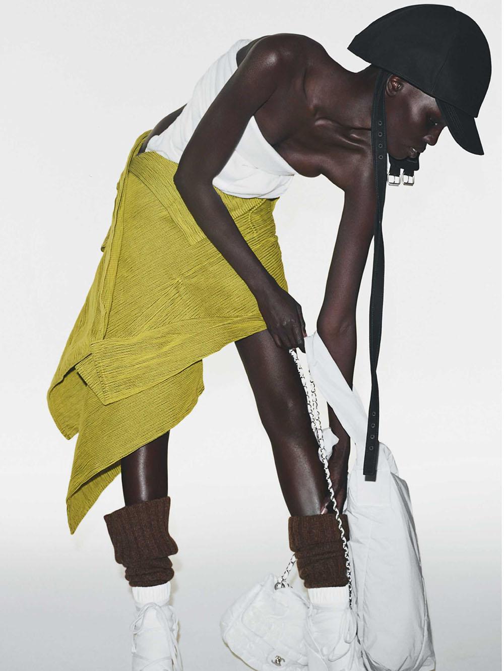 Sarah Berger and Shanelle Nyasiase by Tim Elkaïm for Vogue Italia October 2019