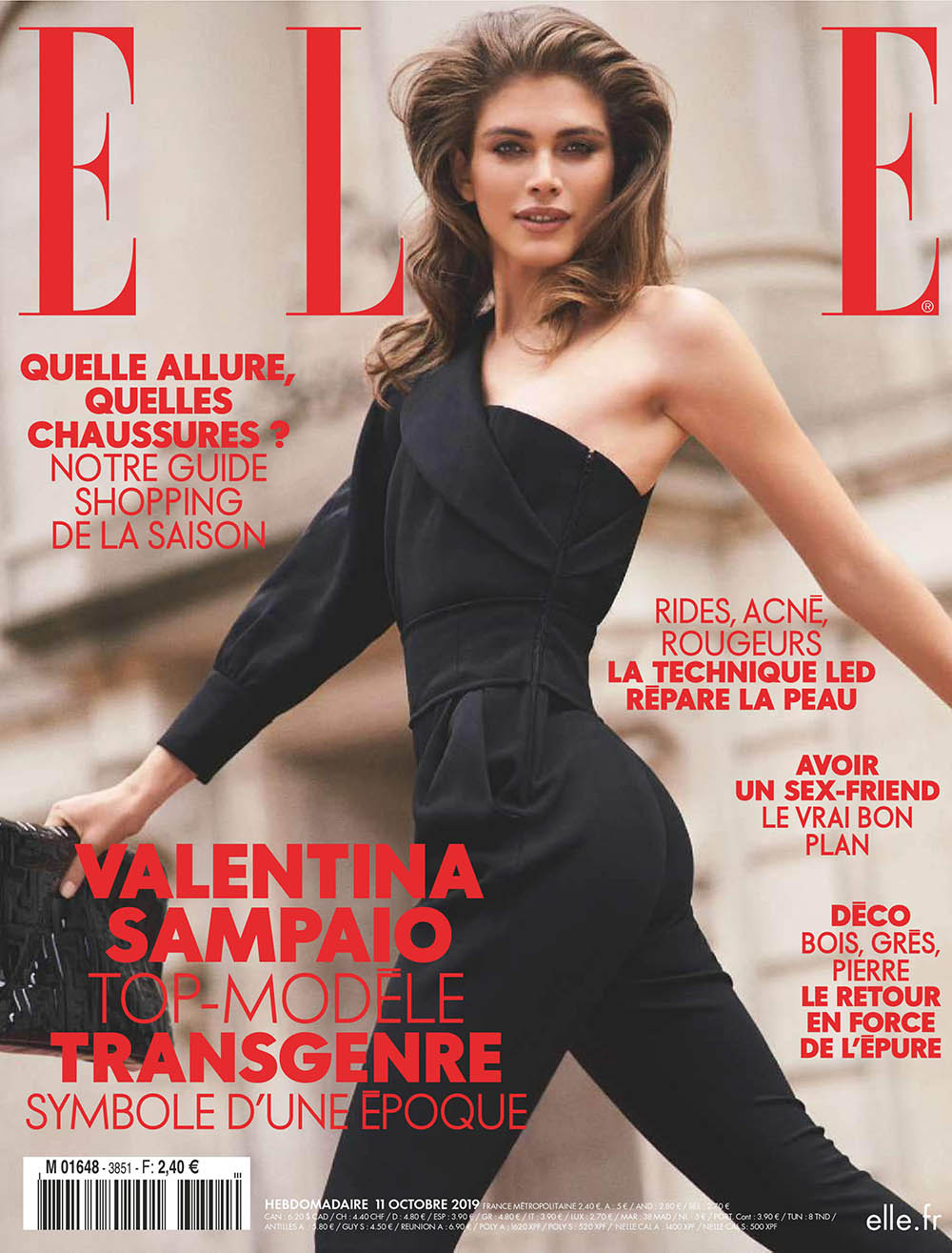Valentina Sampaio covers Elle France October 11th, 2019 by Sebastian Kim