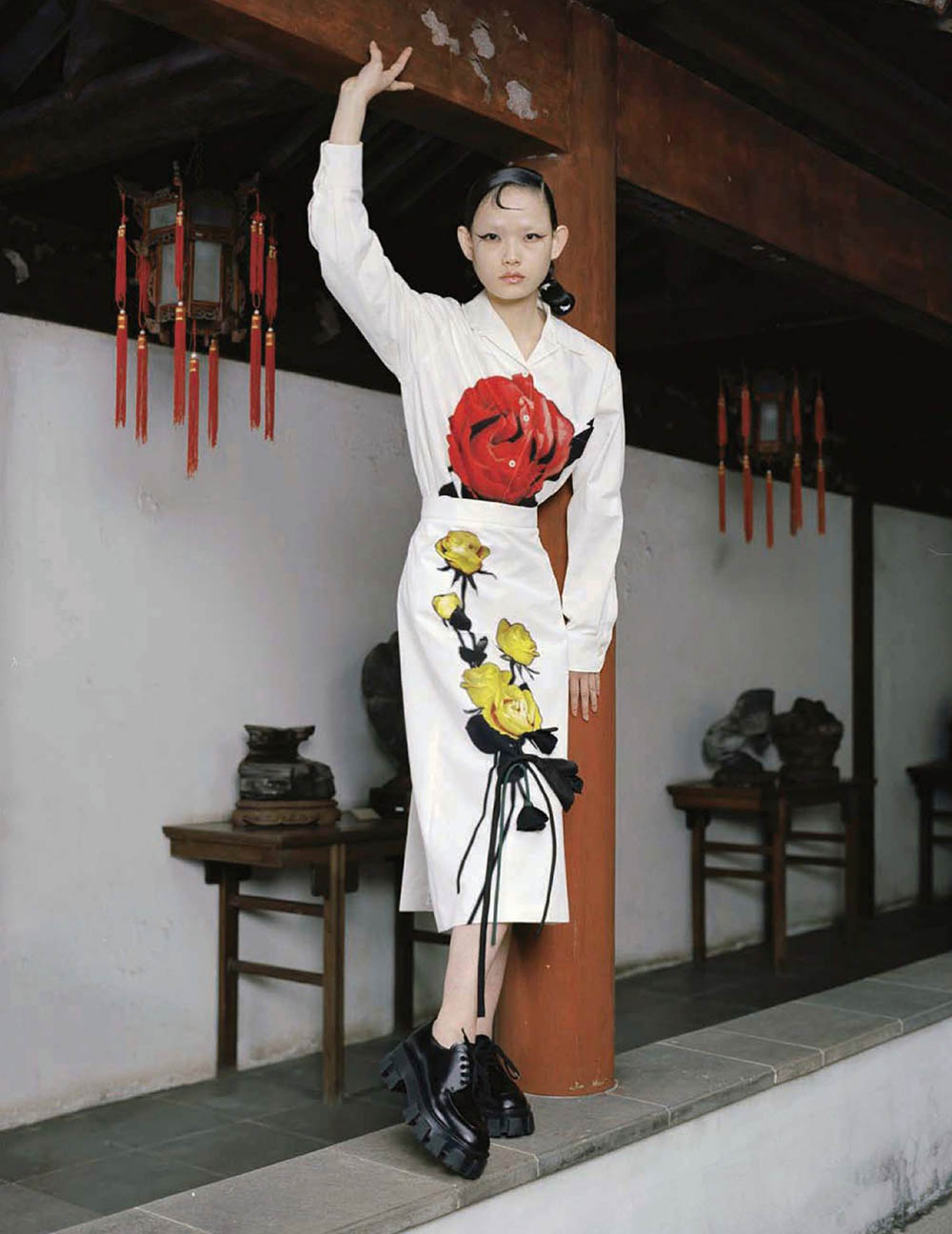 Xie Chaoyu by Leslie Zhang for Vogue China October 2019