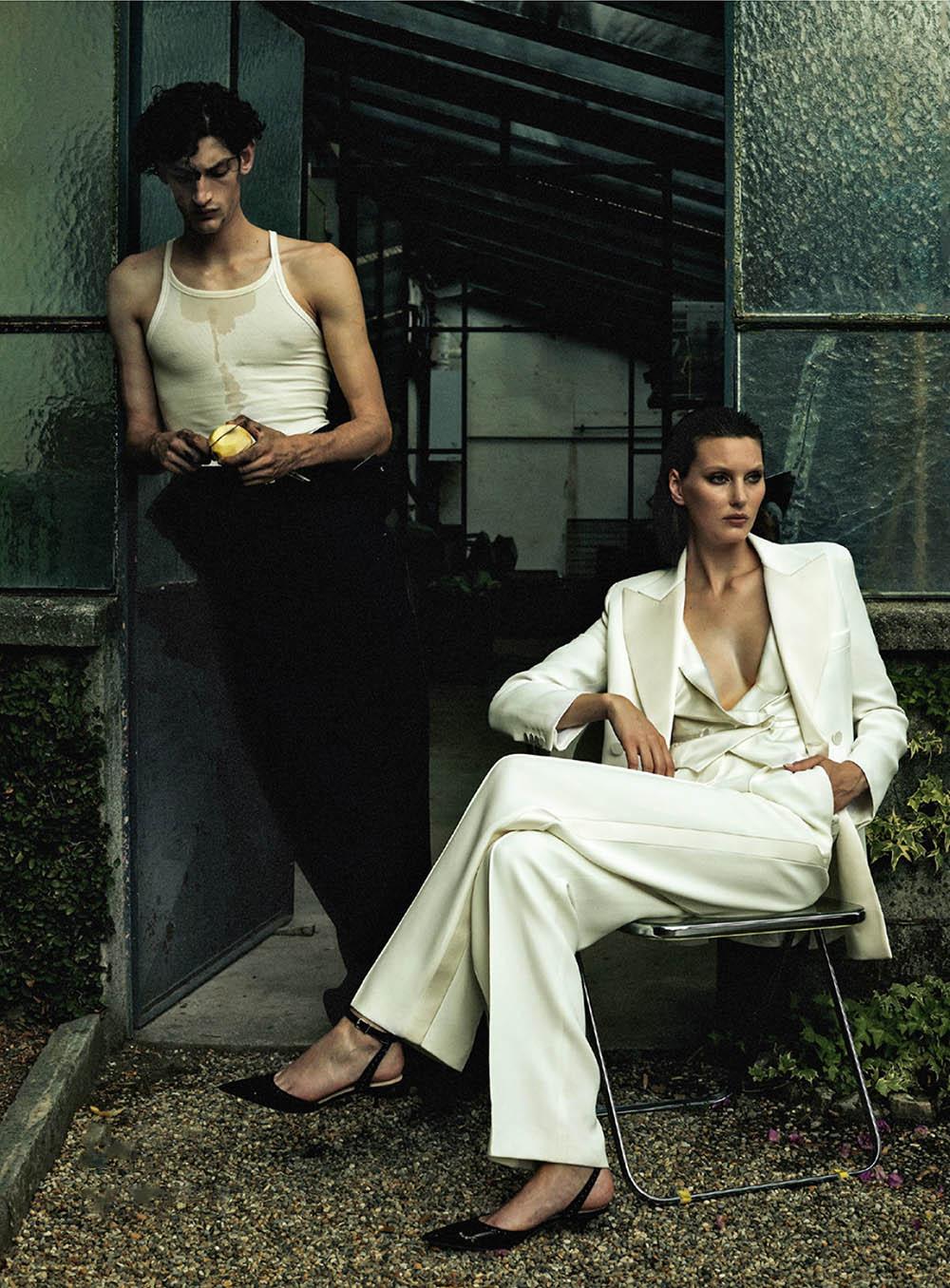 Aaron Shandel and Veroniek Gielkens by Stephan Lisowski for Harper's Bazaar Netherlands November 2019