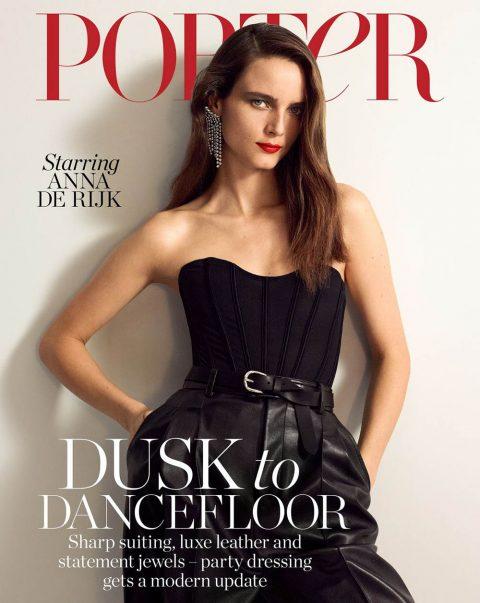 Anna de Rijk covers Porter Magazine November 8th, 2019 by Mark Kean