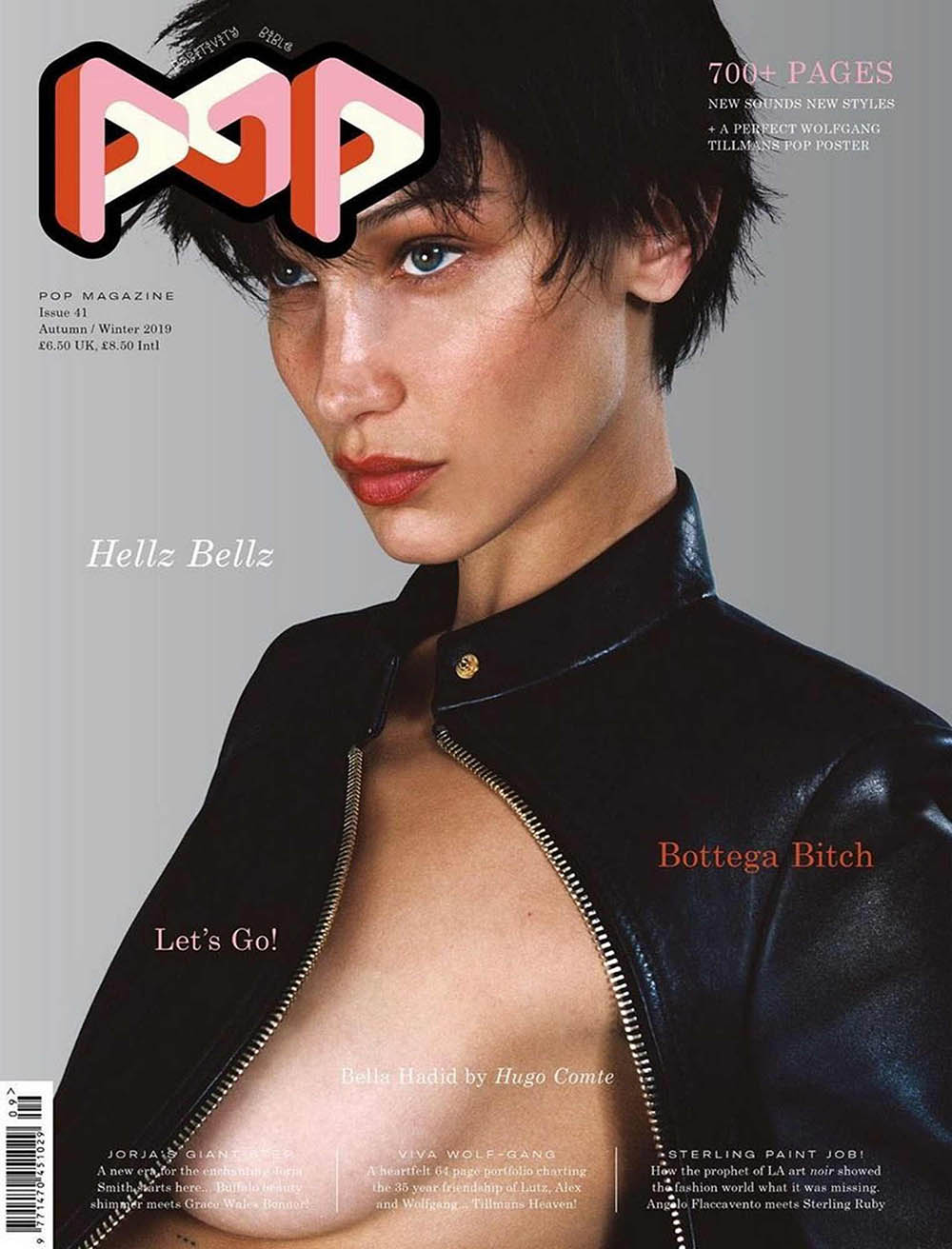 Bella Hadid covers POP Magazine Autumn Winter 2019 by Hugo Comte