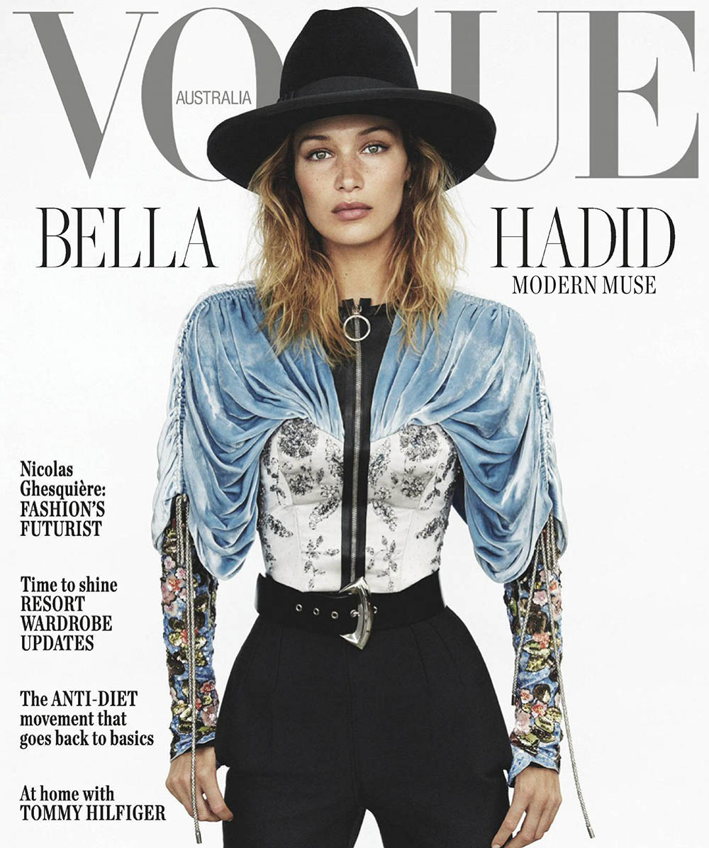 Bella Hadid covers Vogue Australia November 2019 by Daniel Jackson