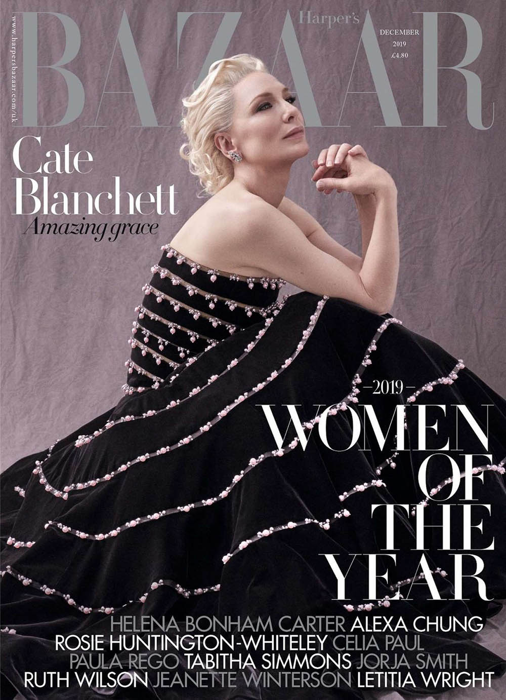 Cate Blanchett covers Harper's Bazaar UK December 2019 by Tom Munro