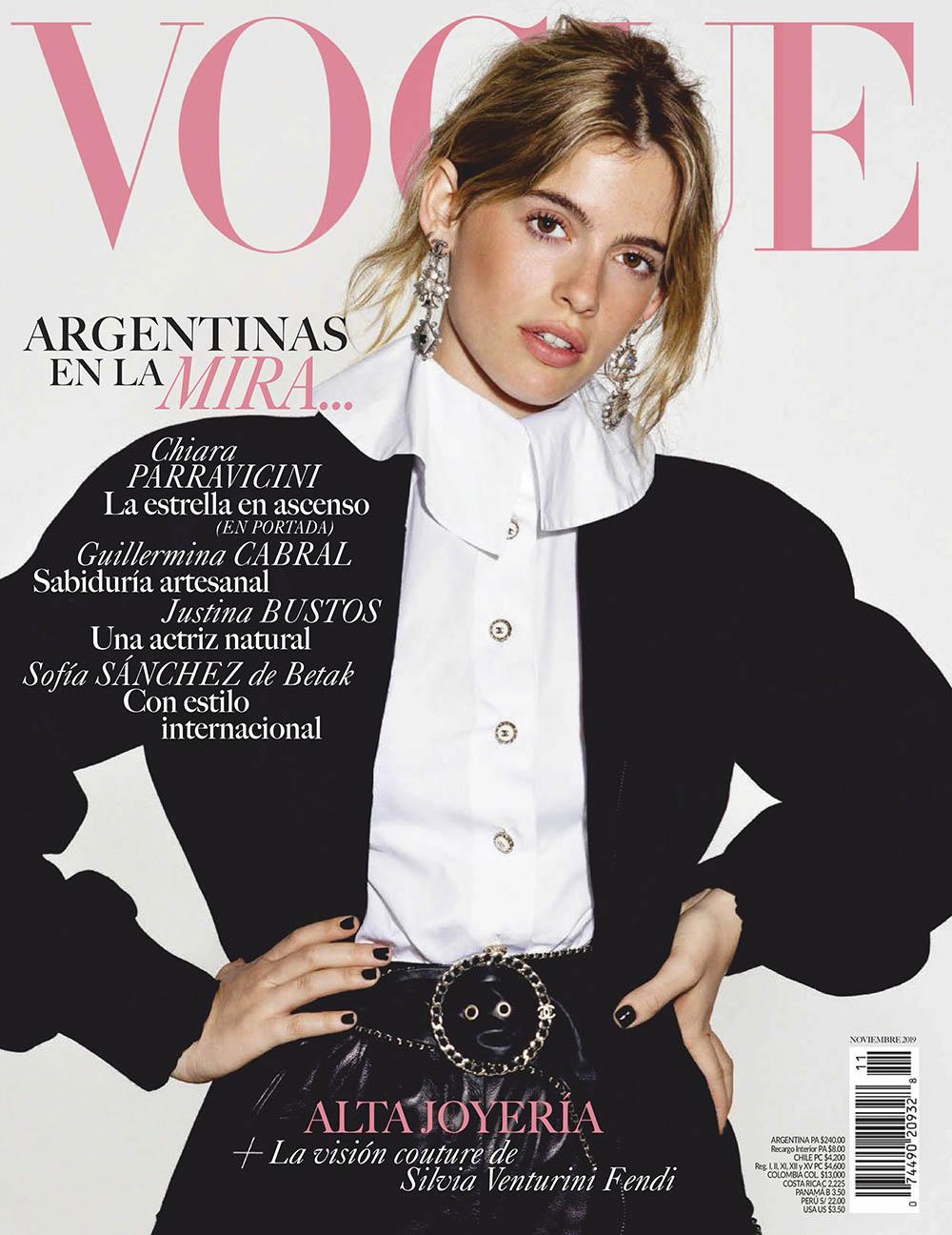 Chiara Parravicini covers Vogue Latin America November 2019 by David Ferrua