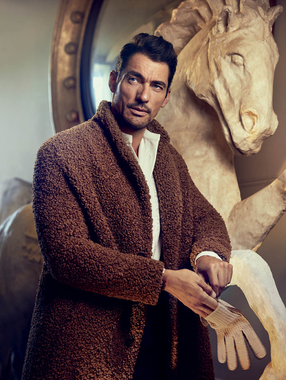 David Gandy covers L'Officiel Hommes Korea Autumn Winter 2019 by Jeon Seung