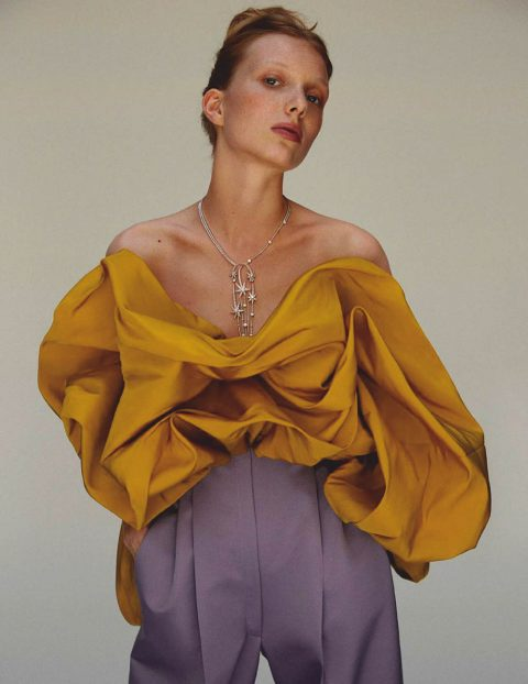Demy de Vries by Javi Oller for Harper's Bazaar Spain November 2019