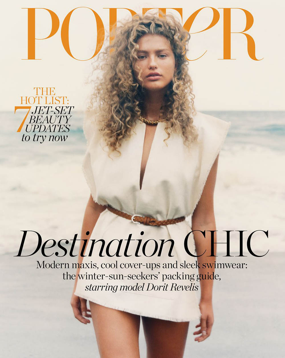 Dorit Revelis covers Porter Magazine November 29th, 2019 by David Luraschi