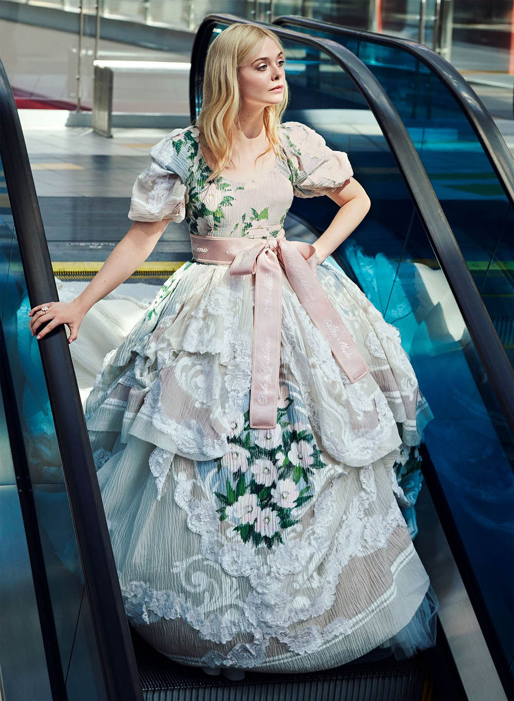Elle Fanning covers InStyle US November 2019 by Pamela Hanson
