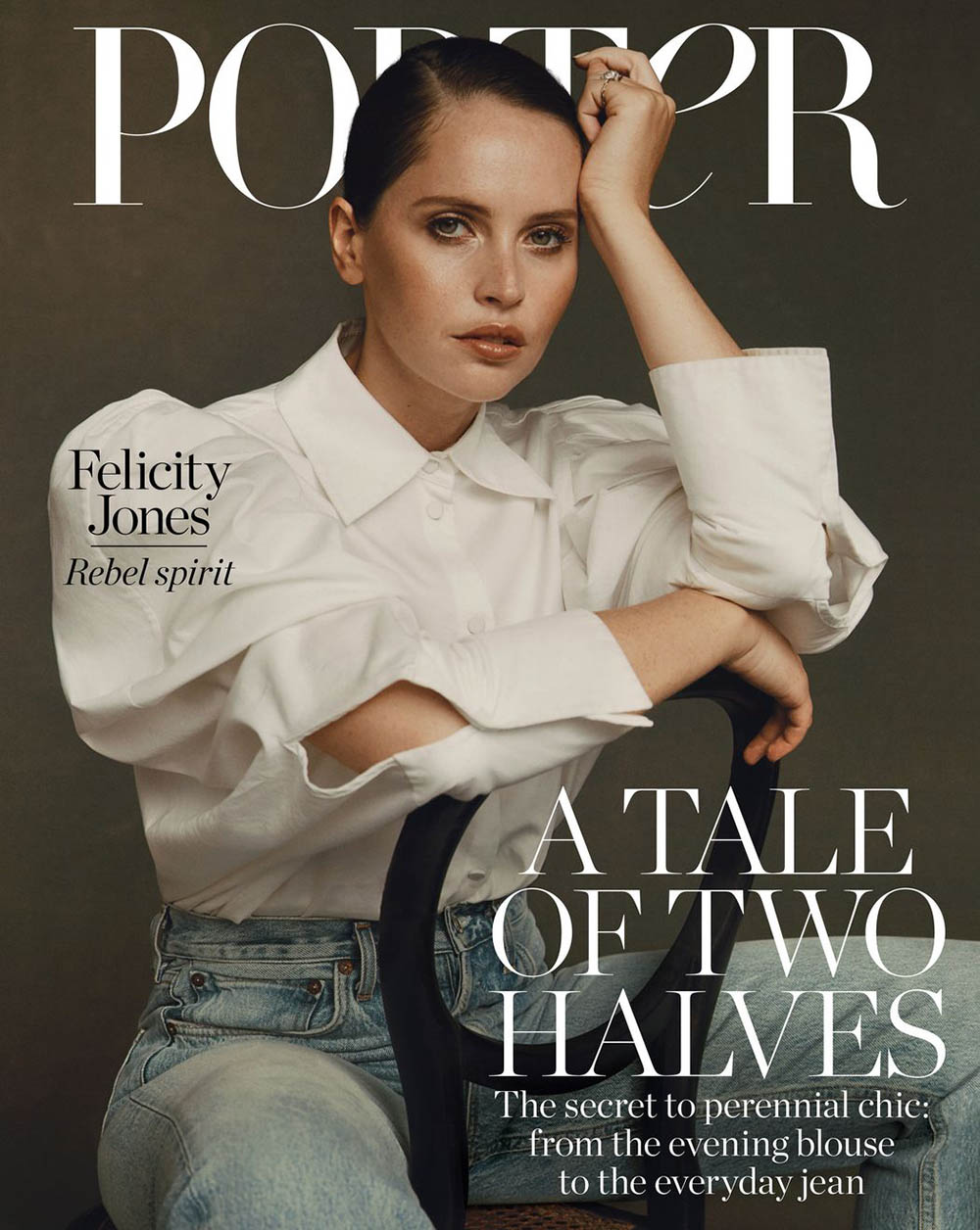 Felicity Jones covers Porter Magazine November 1st, 2019 by Ben Weller