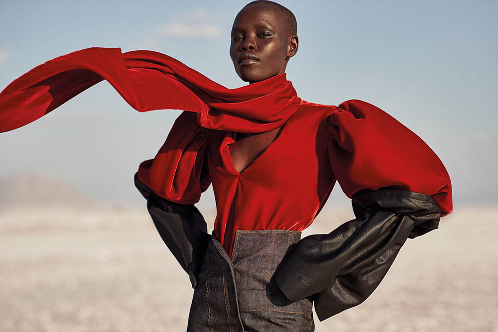 Grace Bol covers Vogue Greece November 2019 by Richard Phibbs