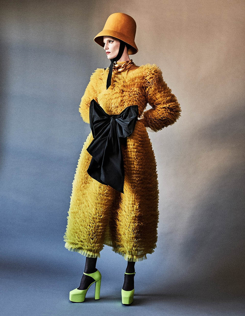 Iris Strubegger by Giampaolo Sgura for Vogue Germany December 2019