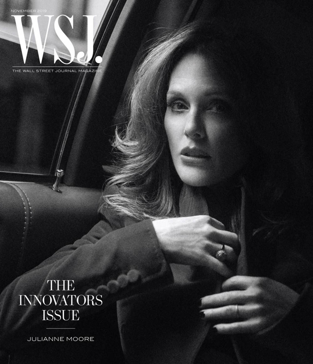 Julianne Moore covers WSJ. Magazine November 2019 by Lachlan Bailey