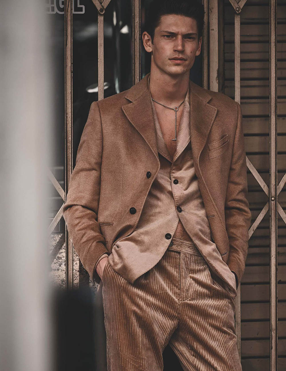Justin Eric Martin by Blair Getz Mezibov for British GQ November 2019