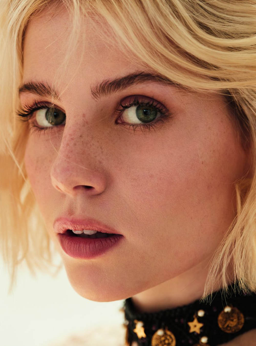 Lucy Boynton covers Marie Claire UK November 2019 by David Roemer