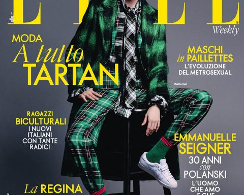 Martha Hunt covers Elle Italia November 15th, 2019 by Victor Demarchelier