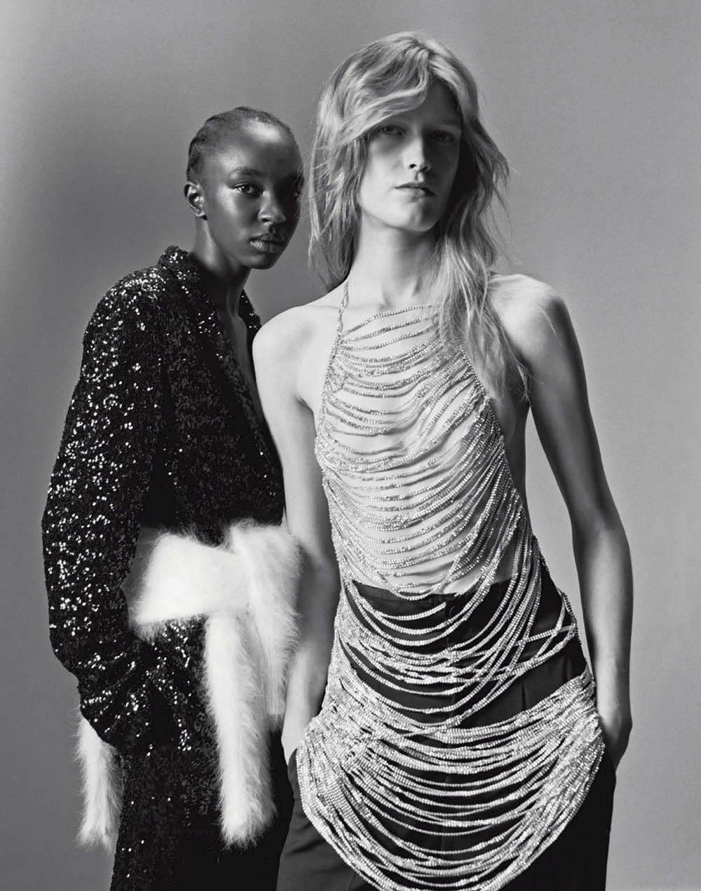 Nicole Atieno and Tessa Bruinsma by Alexandre Guirkinger for Vogue Italia November 2019
