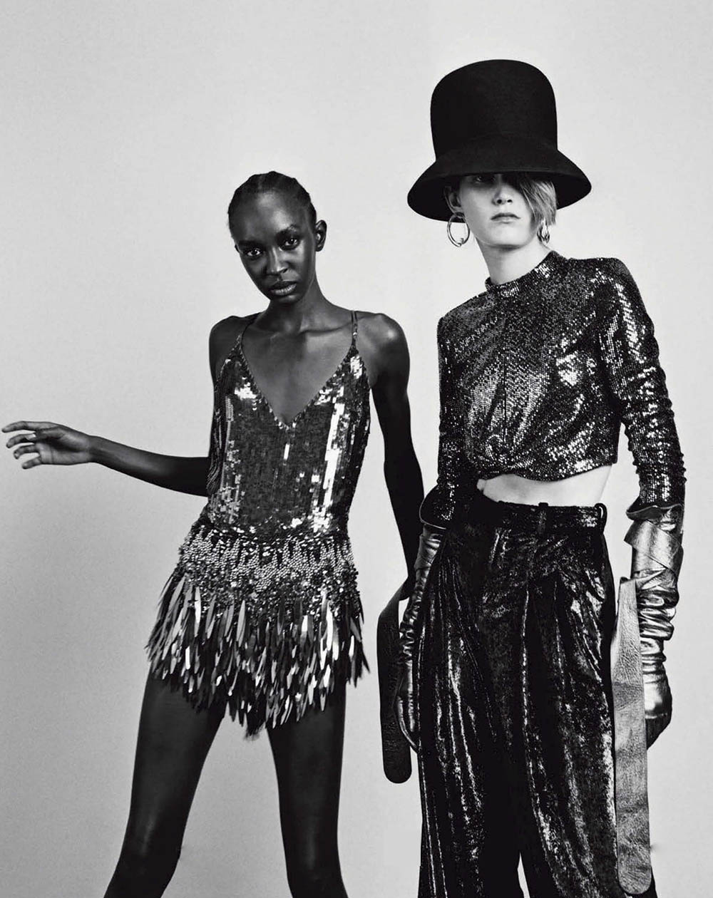 Nicole Atieno and Tessa Bruinsma by Alexandre Guirkinger for Vogue Italia November 2019