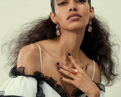 Pooja Mor and Kesewa Aboah by Thomas Lohr for British Vogue November 2019