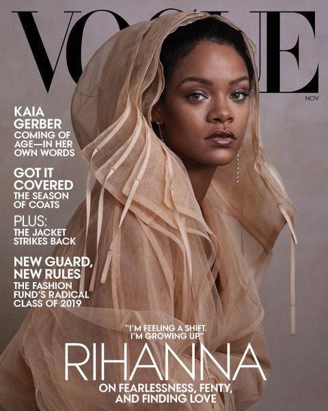 Rihanna covers Vogue US November 2019 by Ethan James Green