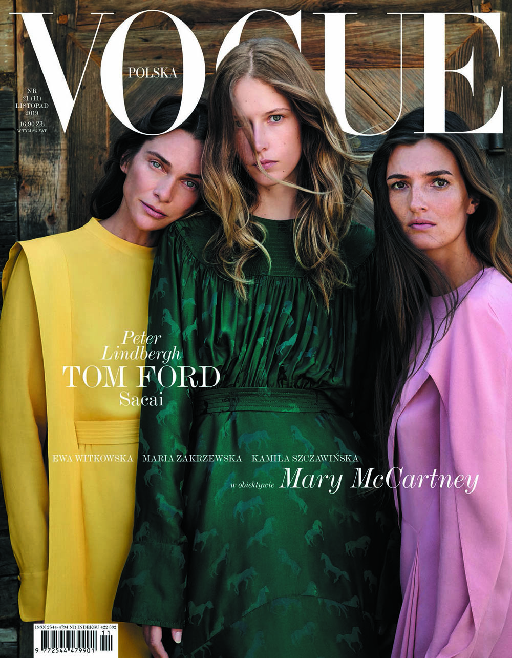 Vogue Poland November 2019 cover by Mary McCartney