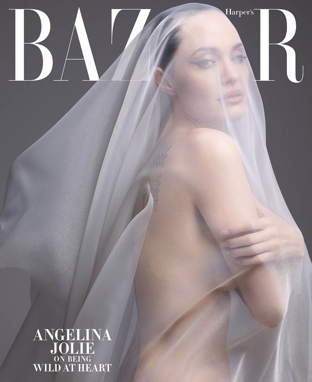 Angelina Jolie covers Harper's Bazaar US December 2019 January 2020 by Sølve Sundsbø