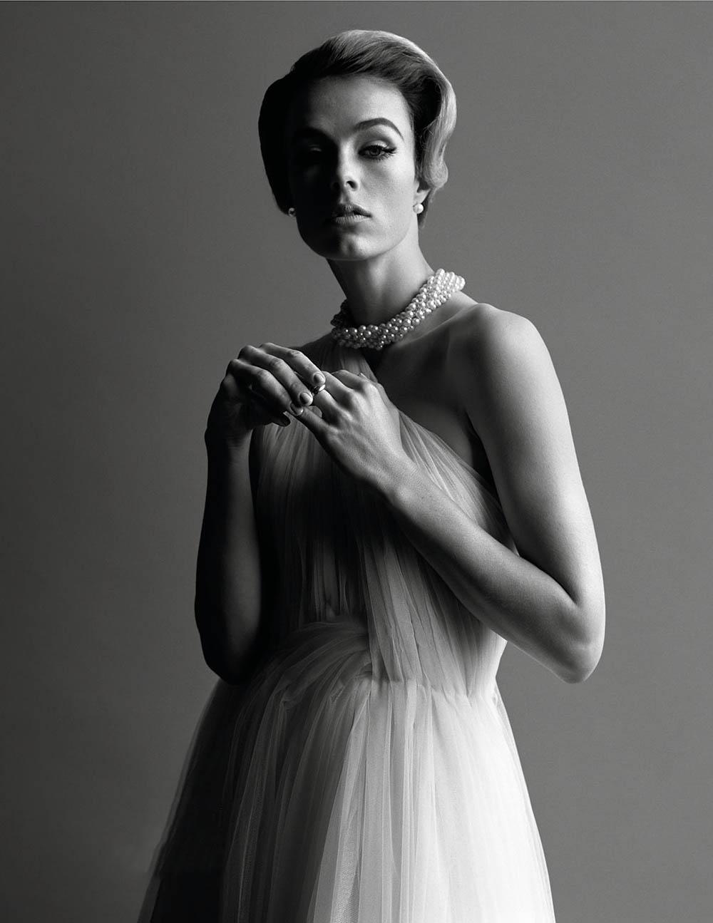Edie Campbell by Alasdair McLellan for Vogue Paris December 2019 January 2020
