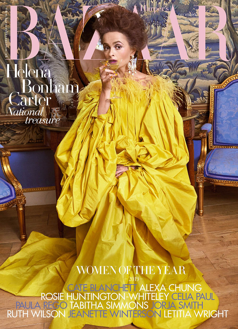 Helena Bonham Carter covers Harper's Bazaar UK December 2019 by Pamela Hanson