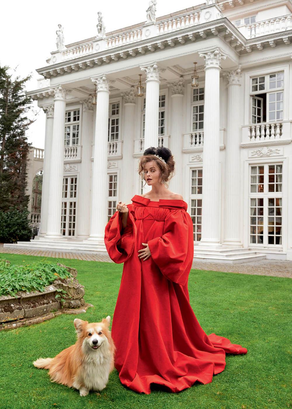 Helena Bonham Carter covers Harper's Bazaar UK December 2019 by Pamela Hanson