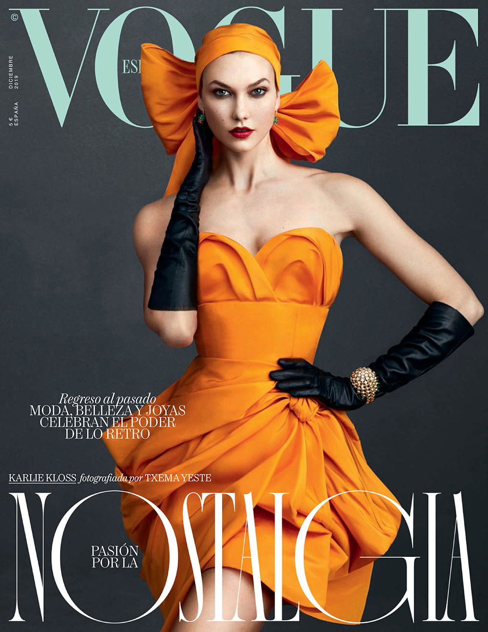 Karlie Kloss covers Vogue Spain December 2019 by Txema Yeste