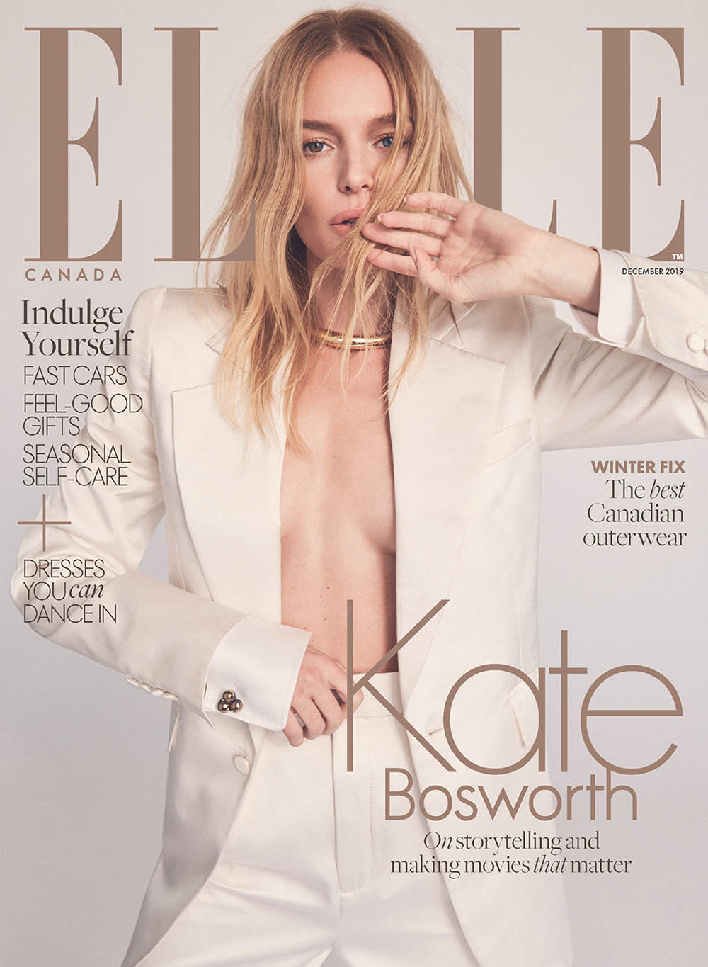 Kate Bosworth covers Elle Canada December 2019 by Nino Munoz