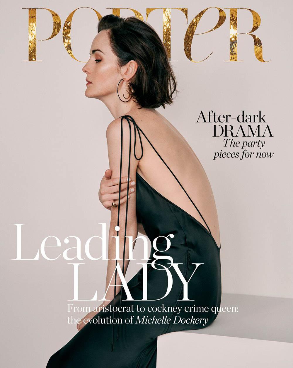 Michelle Dockery covers Porter Magazine December 20th, 2019 by Ward Ivan Rafik