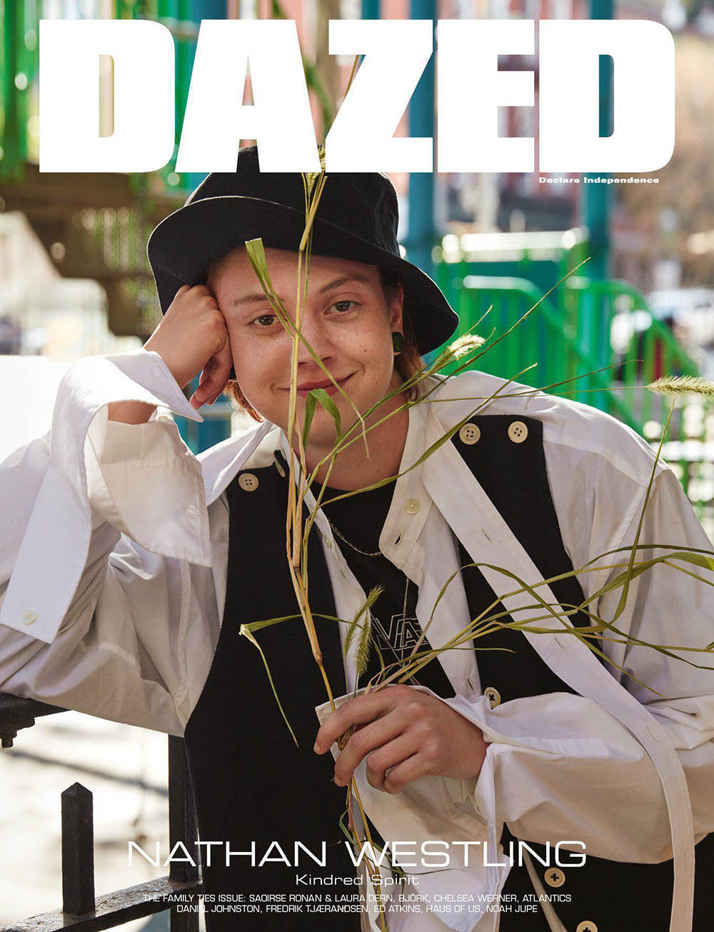 Nathan Westling covers Dazed Magazine Winter 2019 by Roe Ethridge