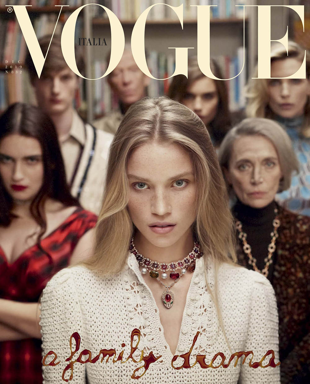 Rebecca Leigh Longendyke covers Vogue Italia December 2019 by Mert & Marcus