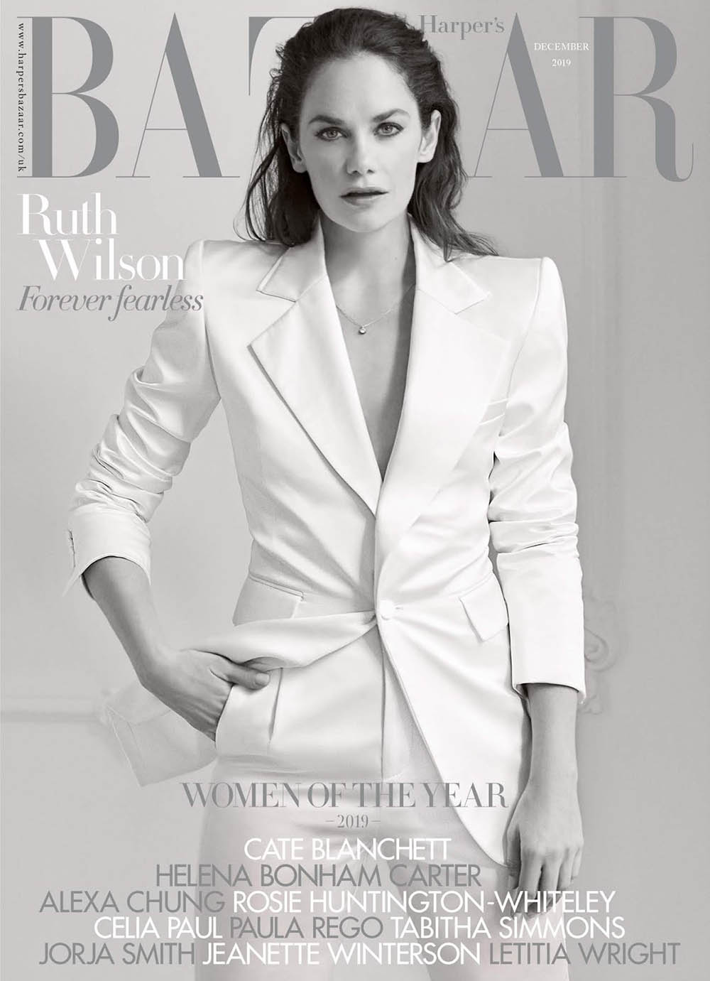 Ruth Wilson covers Harper's Bazaar UK December 2019 by Richard Phibbs
