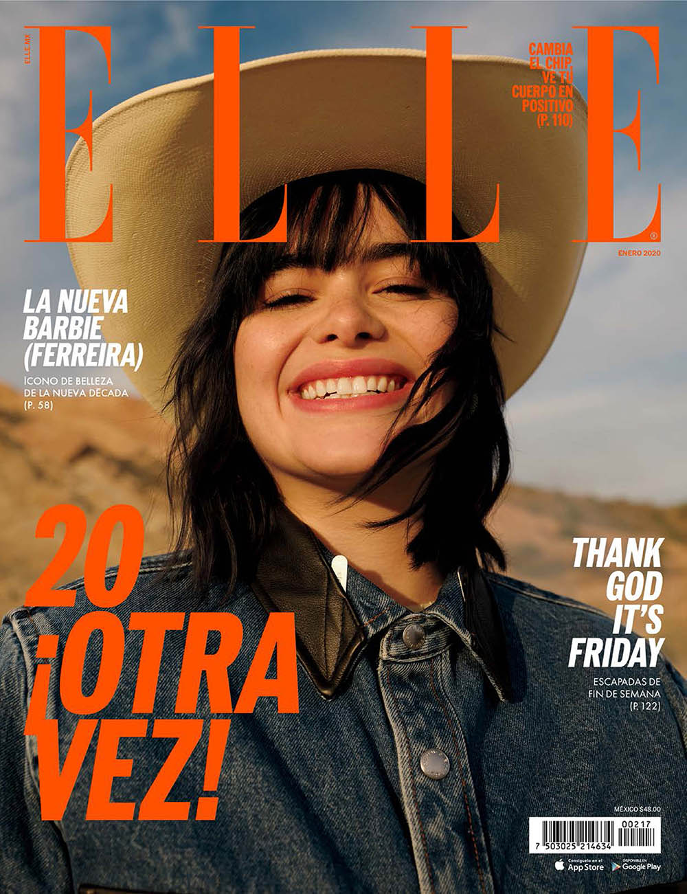 Barbie Ferreira covers Elle Mexico January 2020 by Arale Reartes