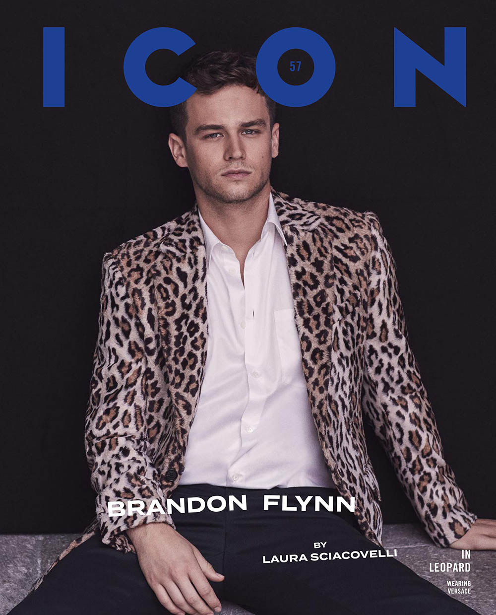Brandon Flynn covers Icon Italia January 2020 by Laura Sciacovelli