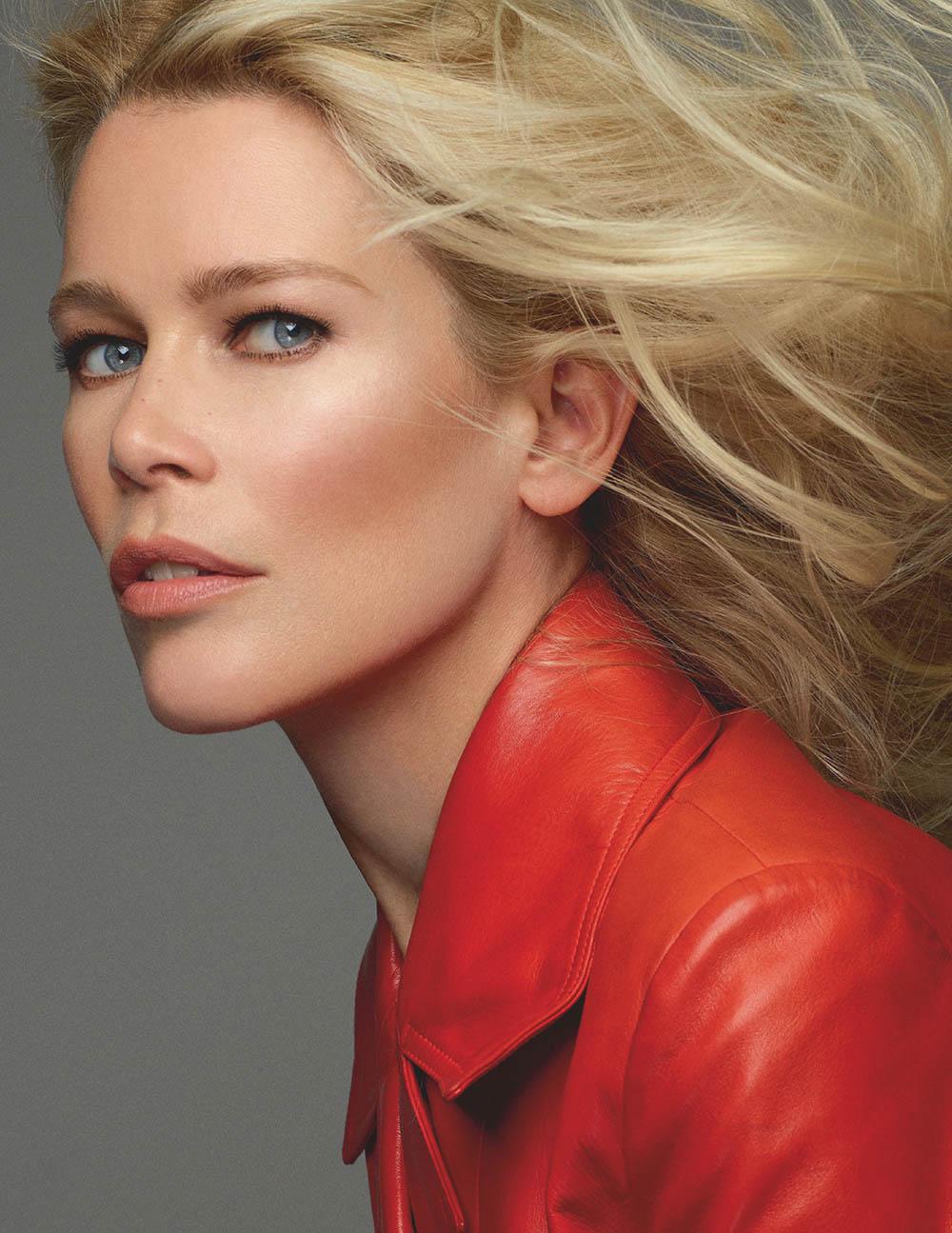 Claudia Schiffer covers Vogue Russia January 2020 by Cuneyt Akeroglu