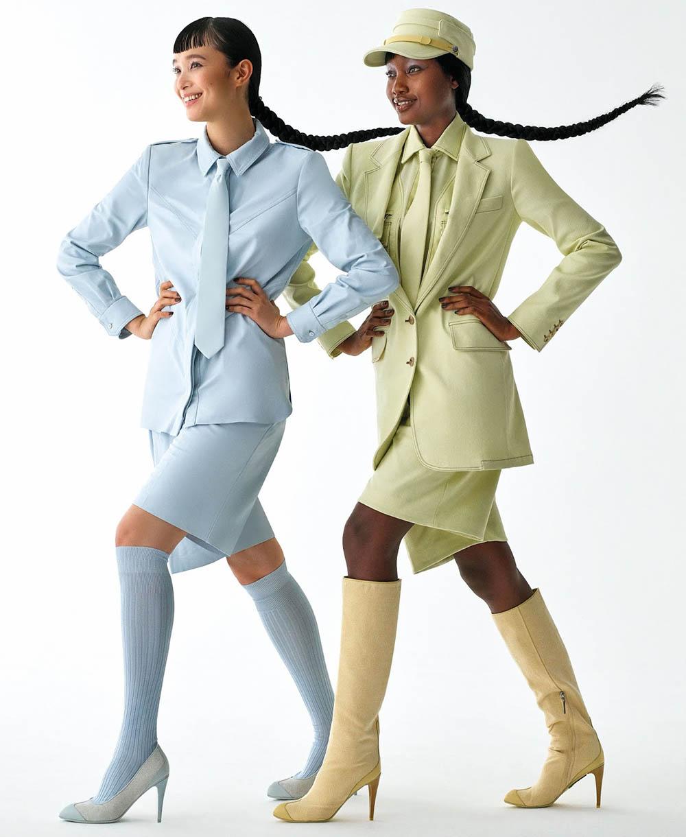 Eniola Abioro and Yuka Mannami by Daniel Clavero for Elle US January 2020