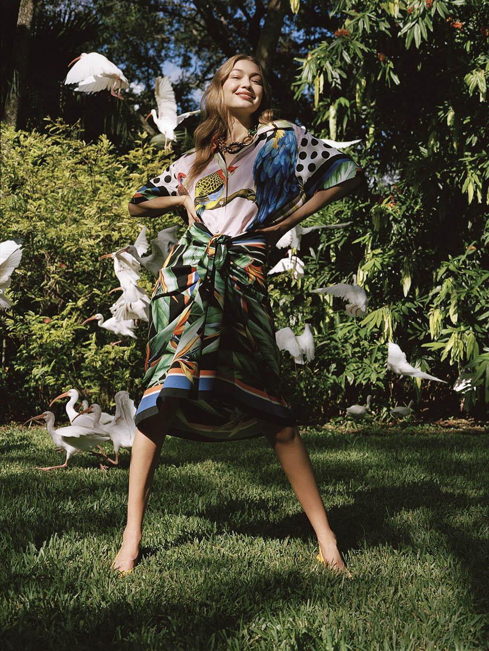 Gigi Hadid by Sean Thomas for Vogue US January 2020