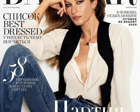 Gisele Bündchen covers Harper's Bazaar Russia January 2020 by Kevin O'Brien